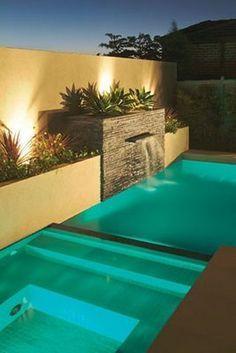 Cascada piscina moderna buscar con google decoraci n for Modelos de piscinas modernas