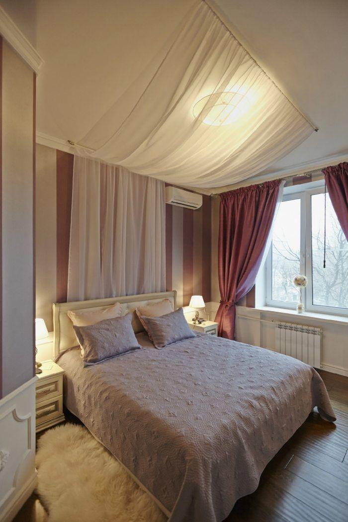 schlafzimmer-gestaltung-bett-vorhang-decke-romantischjpg (700 - schlafzimmer romantisch