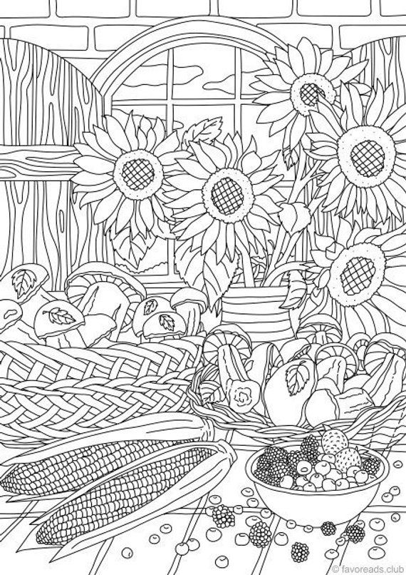 Nature Gifts - Printable Adult Coloring Page from Favoreads ...