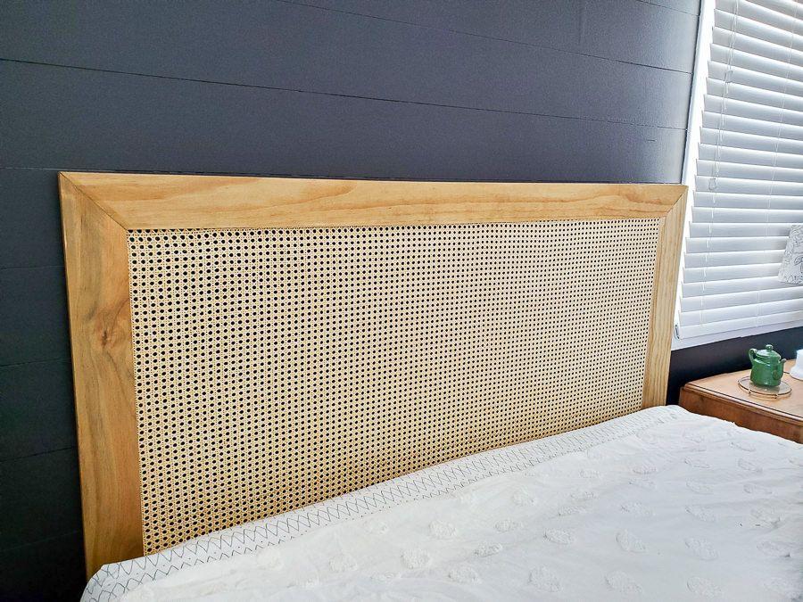 DIY Modern Headboard with Caning