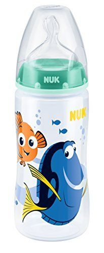 NUK First Choice Baby Bottle Starter Set with 4 baby bottles including silico