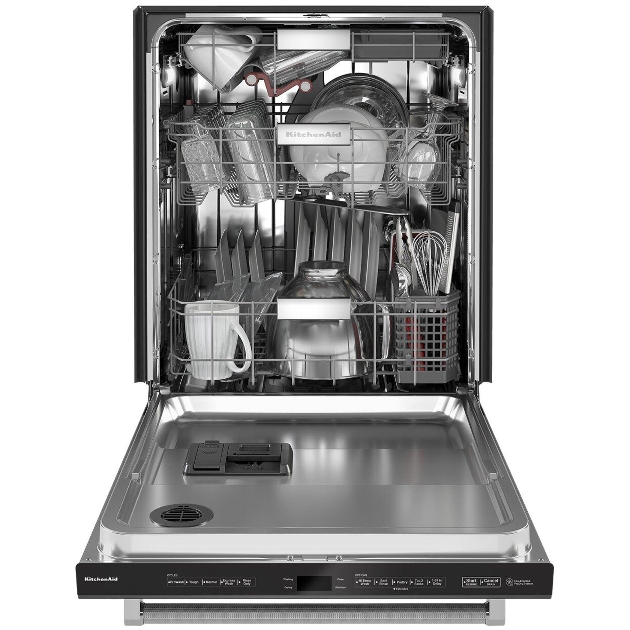 Kitchenaid 24 builtin bar handle dishwasher with