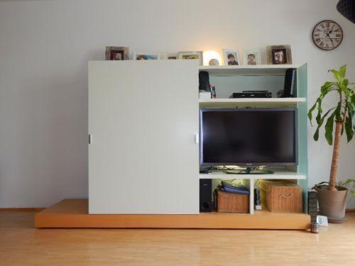 Fernseher Verschwinden Lassen nur die idee tv hinter schiebetür verschwinden lassen zu können