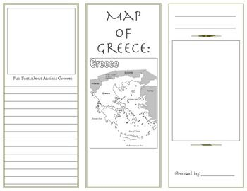 Ancient greece brochure social studies pinterest for Travel brochure template ks2
