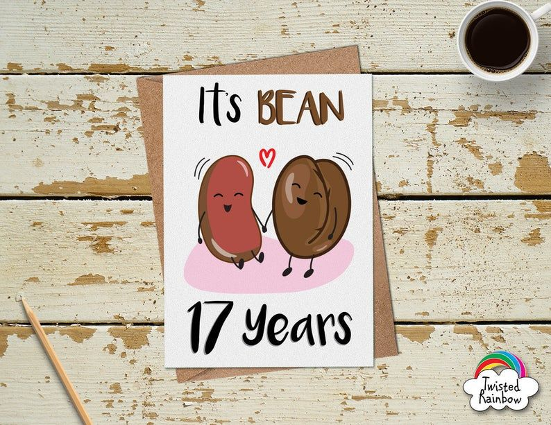 Funny 17 Year Anniversary Card 17th Anniversary Card in