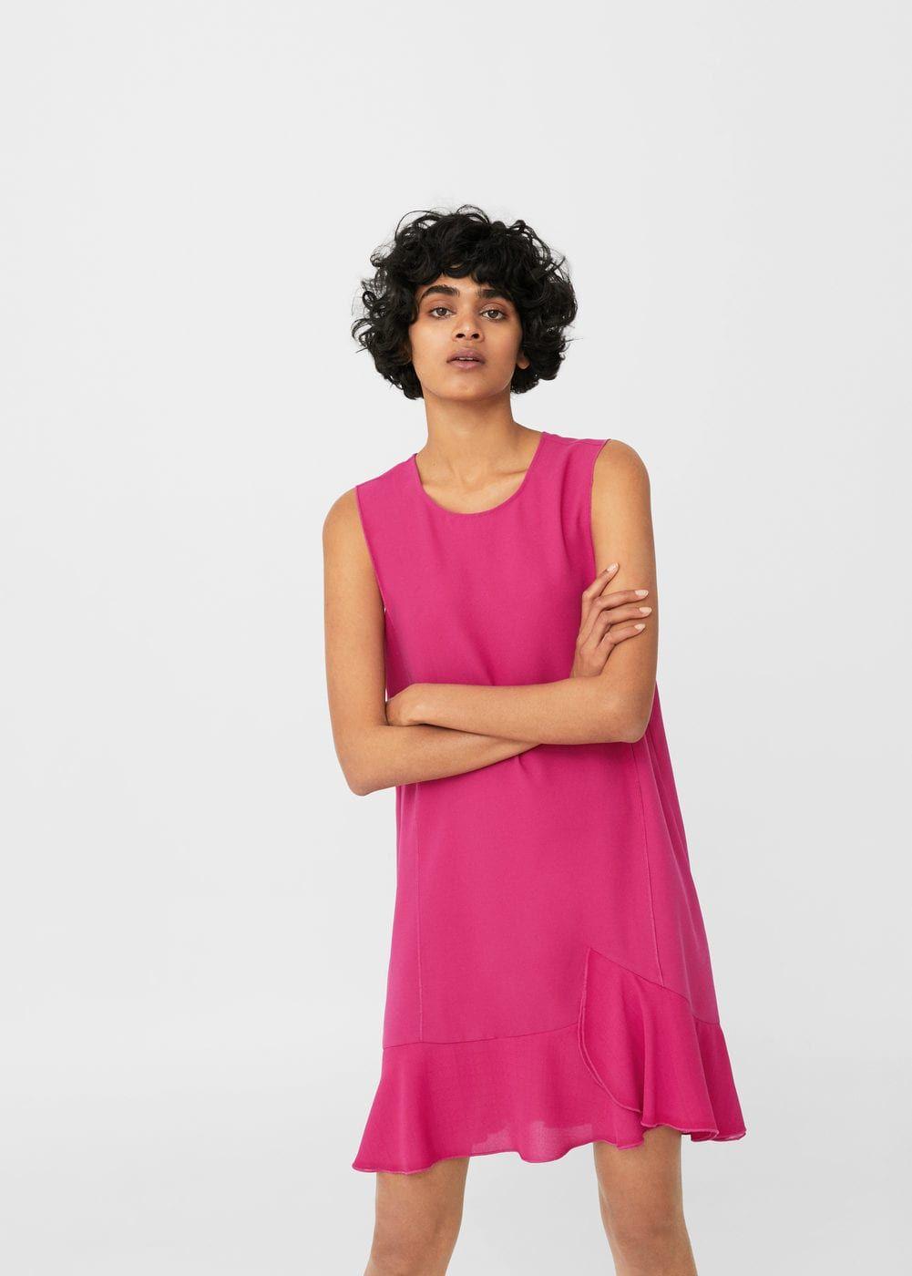 758862169008 Flowy ruffled dress - Women | Style | Ruffle dress, Dresses, Dress ...
