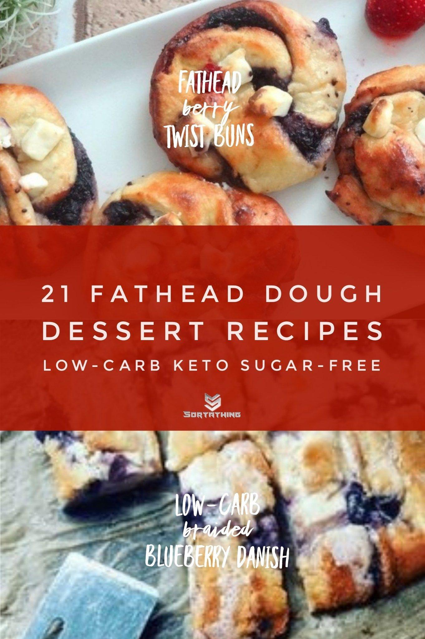 21 Amazing Fathead Dough Dessert Recipes Low Carb Keto Sugar