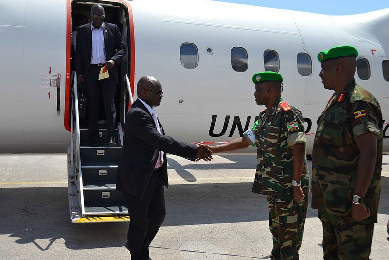 Amisom New Force Commander Lt Gen Silas Ntigurirwa Arrives