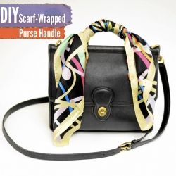 See How To Embellish Your Purse Handle With A Scarf Diy