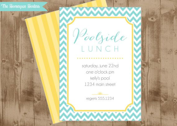 Diy printable party invitation poolside lunch bridal baby shower diy printable party invitation poolside lunch bridal baby shower tea chevron pool swim filmwisefo