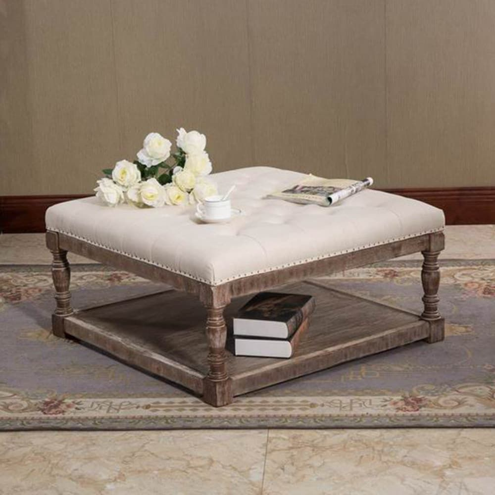 Tufted Ottoman Table In 2020 Ottoman Table Storage Ottoman Coffee Table Coffee Table [ 1000 x 1000 Pixel ]