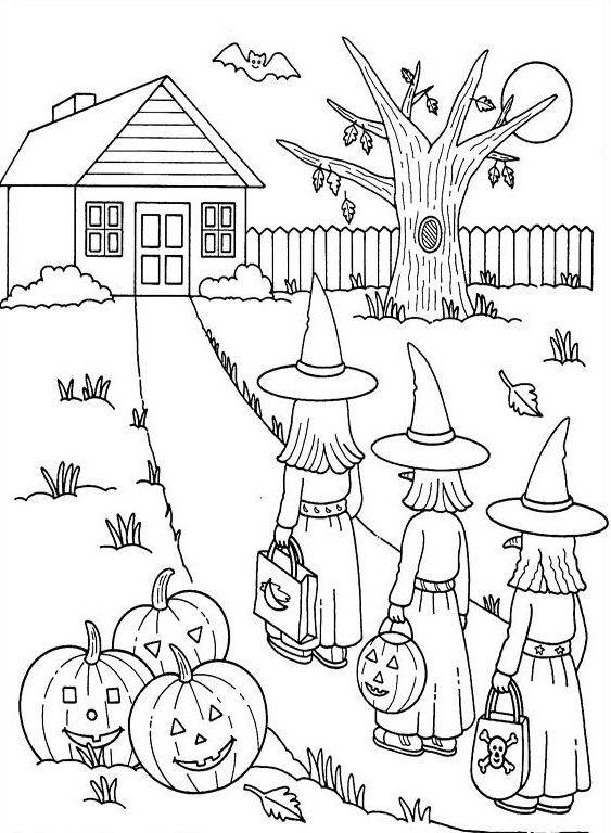 vintage children's halloween activity page - Google Search