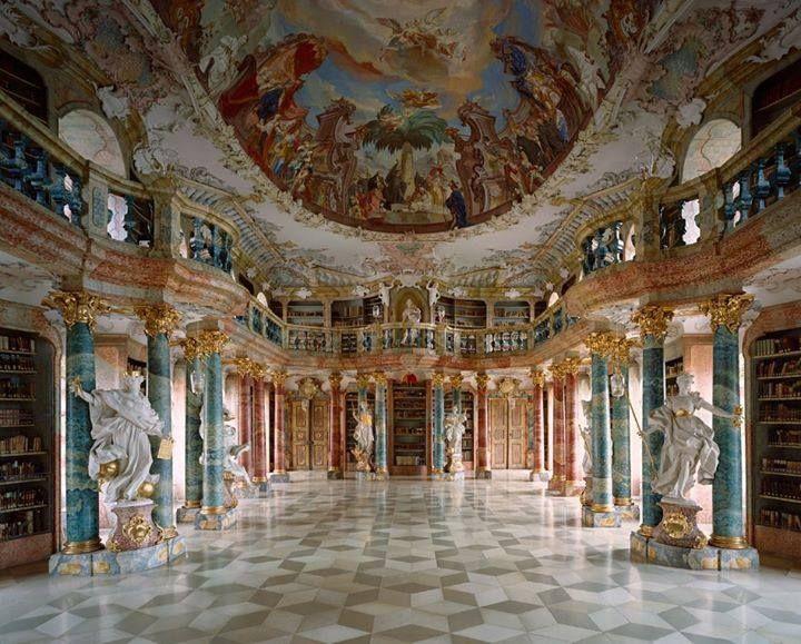 Biblioteca do Monasterio de Wiblingen, Alemanha (Wiblingen Monastery Library, Ulm, Germany)