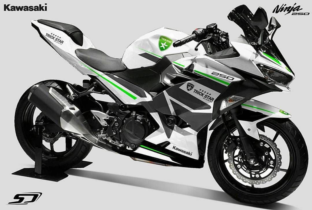 All New Ninja 250 2018 Design Striping By At Simondesigns