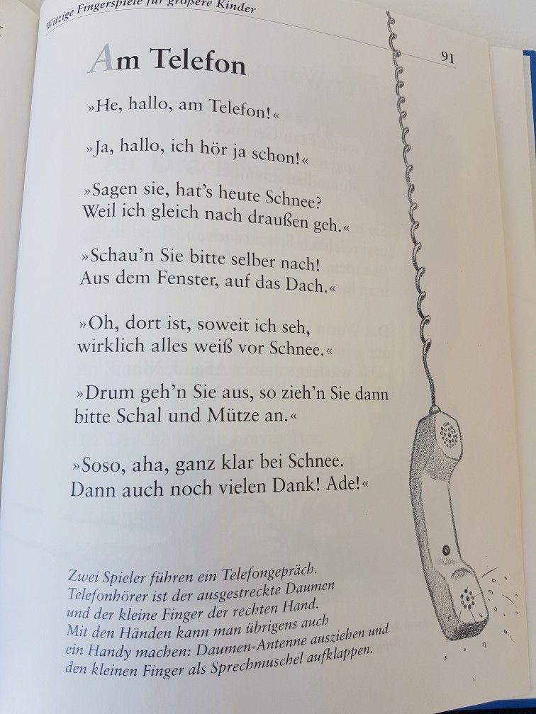 Am Telefon #fingerspiel #krippe #kita #kindergarten #kind #reim ...
