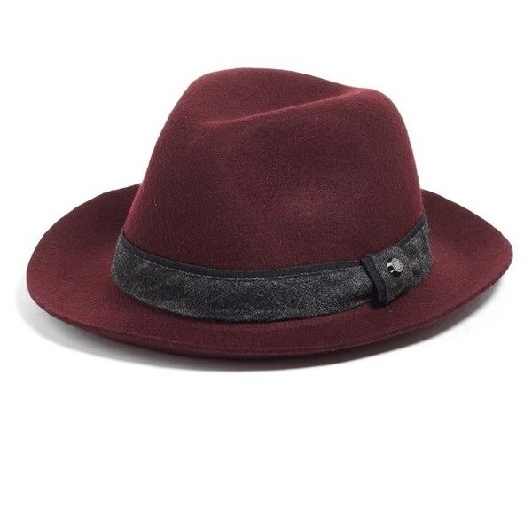 627828ae11c Men s Ted Baker London Wool Blend Fedora ( 85) ❤ liked on Polyvore  featuring men s fashion