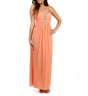 Ora-Single Shoulder Orange Prom Dress