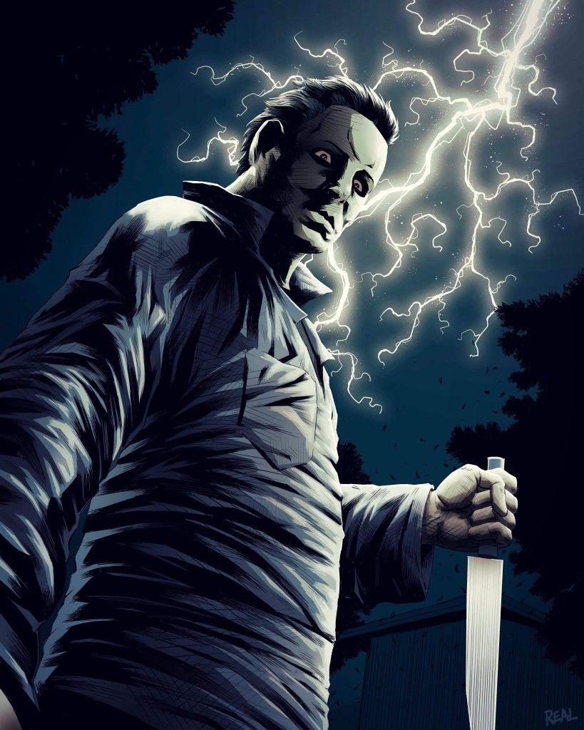 "Horror Movie Art ""Halloween"" 1978, ""Michael Myers"" by"