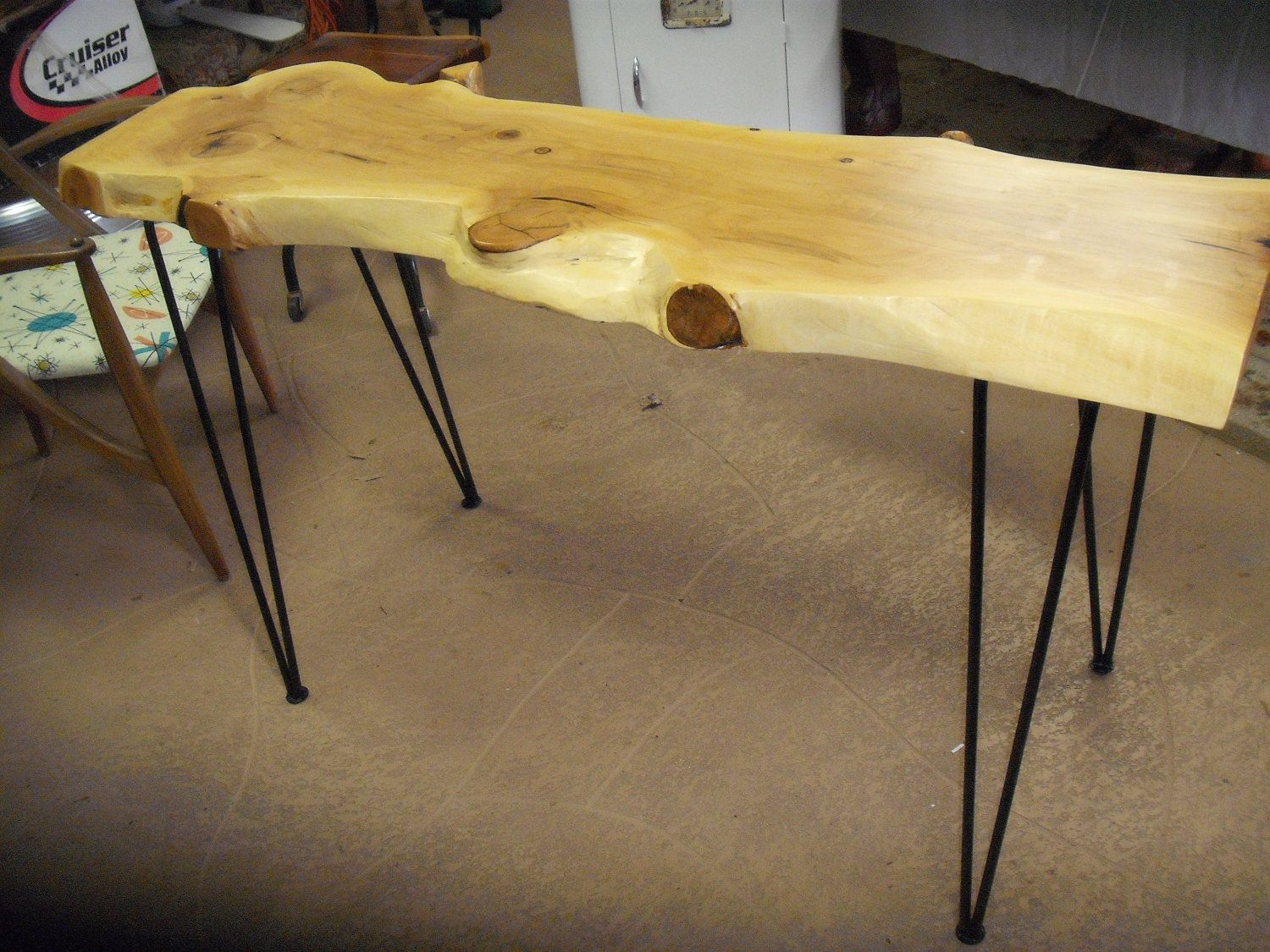 Hair pin leg sofa console entry live edge slab table on sale hair pin leg sofa console entry live edge slab table on sale hair pin legs console table sofa table entry table hall table cypress wood live edge table geotapseo Images