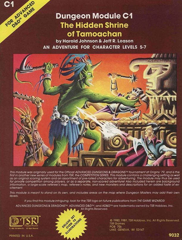 C1 The Hidden Shrine of Tamoachan (1e) - Dungeons & Dragons | Dungeons and Dragons | D&D | DND | AD&D | 1st Ed. | 1e | 1.0