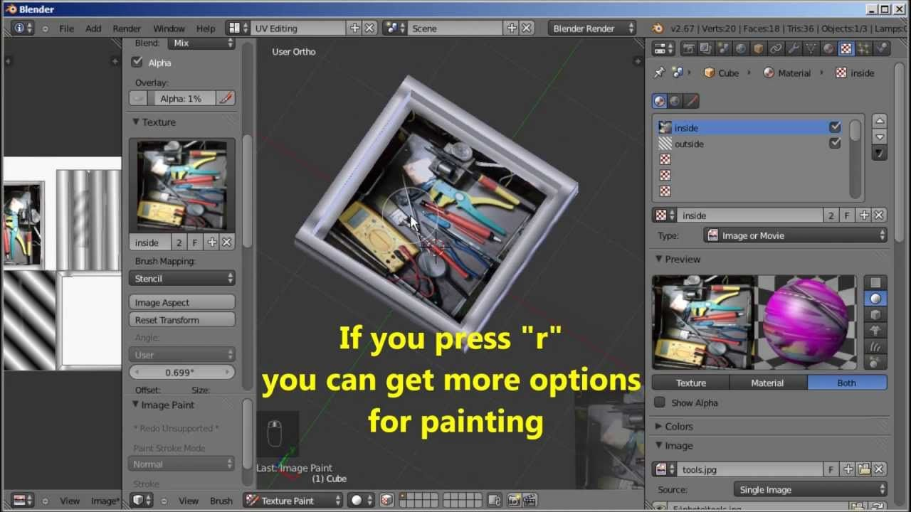 New easier and improved Multi Texture painting system in Blender