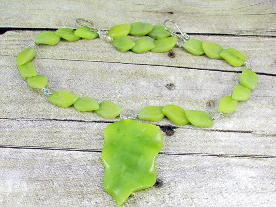 Jade Necklace with Pendant   J14 by daksdesigns on Etsy