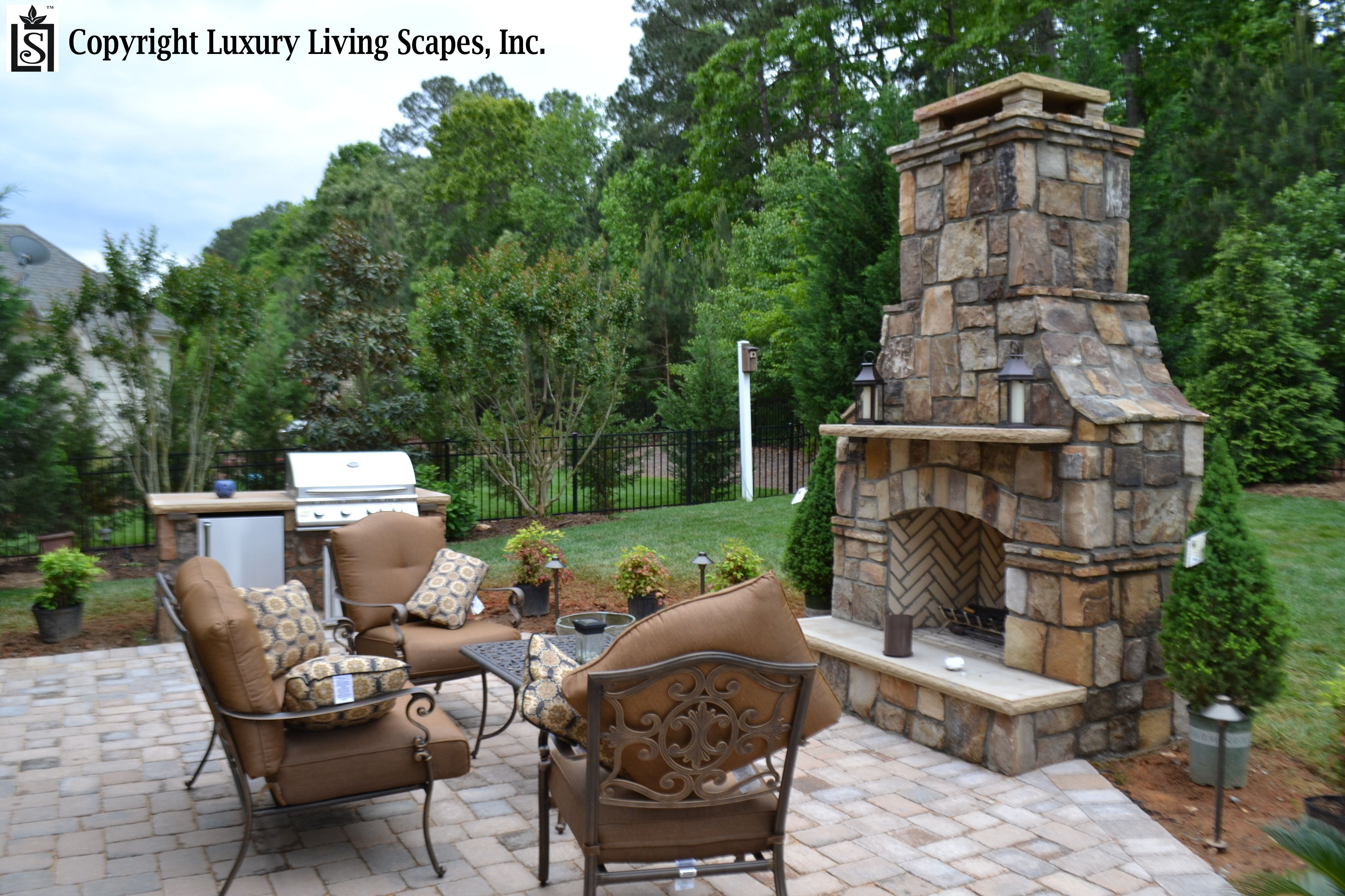 Natural stone thin veneer fireplace Fireplaces and Firepits