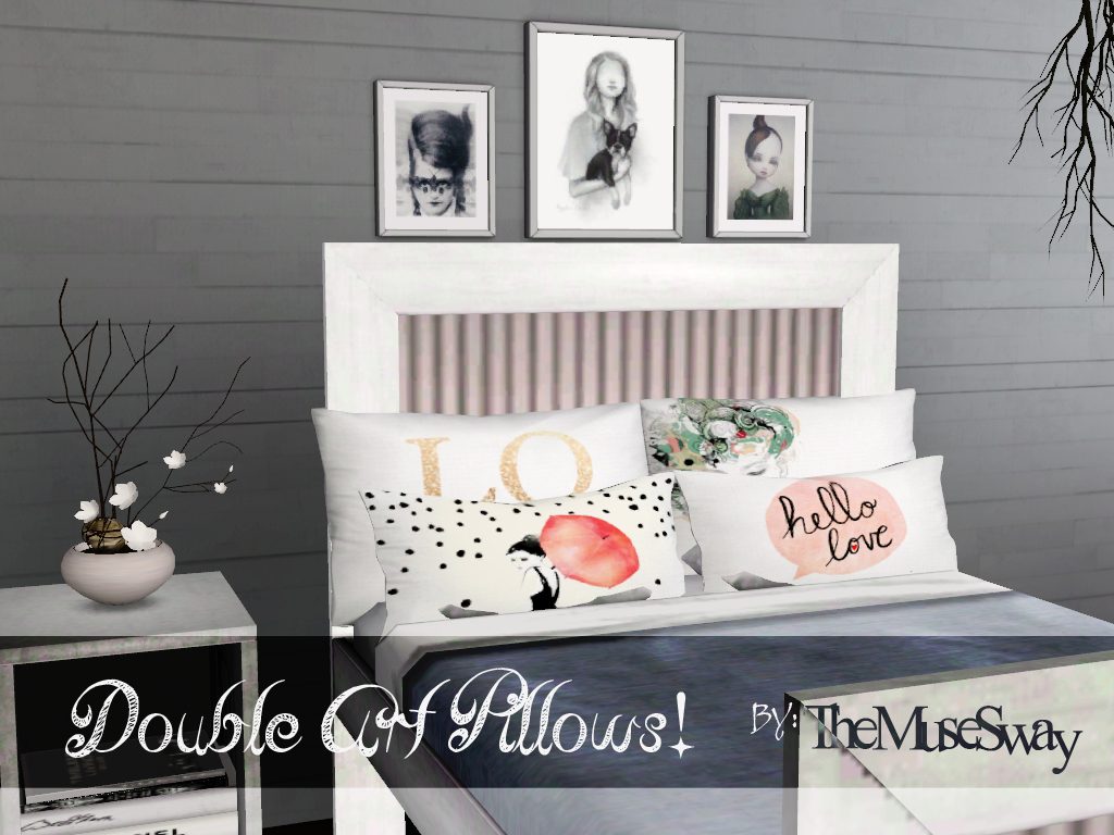 sims 3 cc furniture. My Sims 3 Blog: Double Art Pillows! By The Muse Sway Cc Furniture