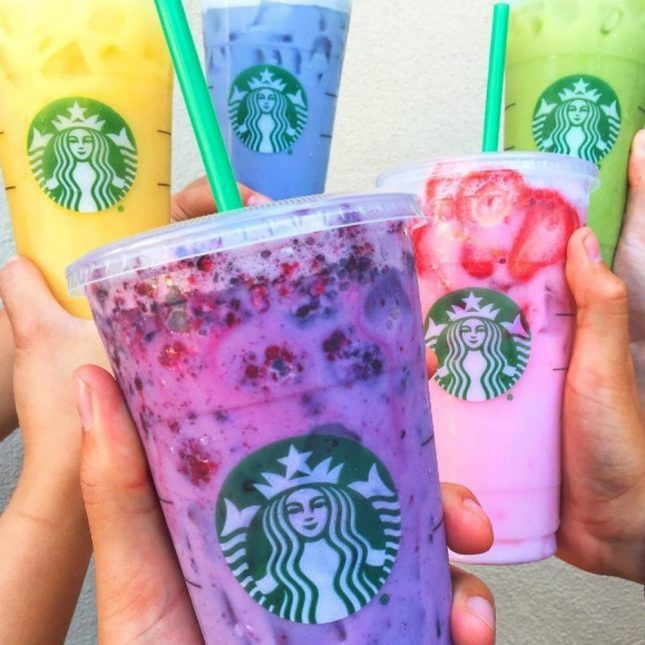 "Starbucks' Colorful ""Secret"" Drinks Now Span the Tasty Rainbow"