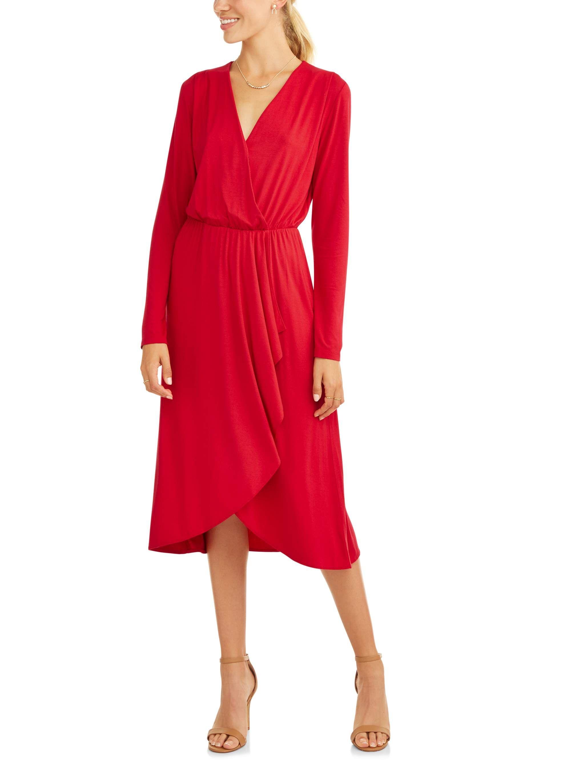 Women S Asymmetrical Ruffle Midi Dress Asymmetrical Women Ruffle [ 2667 x 2000 Pixel ]