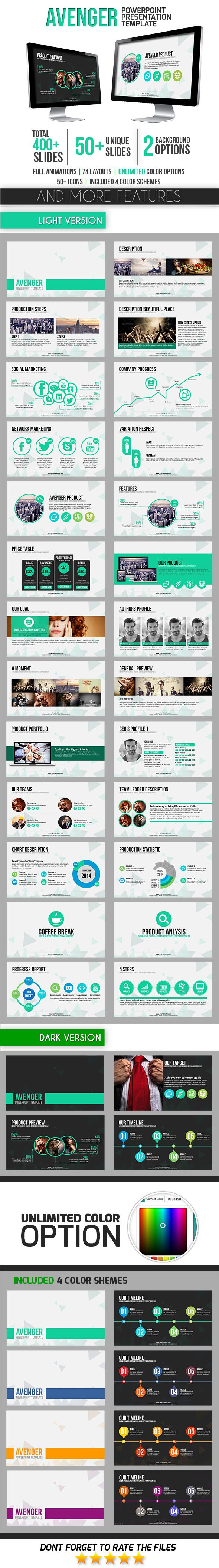Avenger powerpoint template template font logo and fonts avenger powerpoint template toneelgroepblik Image collections