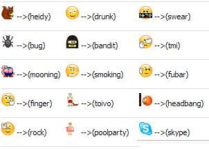 Emoticons For Facebook Yahoo And Skype Crackmodo New Emoticons Skype Emoticons Emoticon