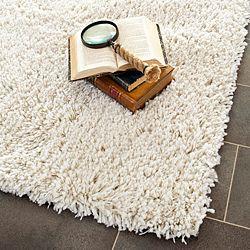 hand-woven bliss off-white shag rug (9'6 x 13'6) | overstock