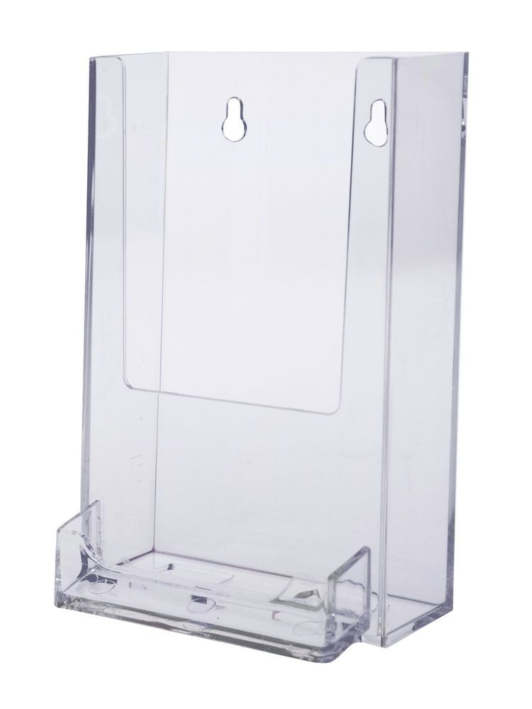 Tall Boy 4 Inch Brochure Holder Wall Mount With Business Card Holder Brochure Display Business Card Holders Brochure Holders