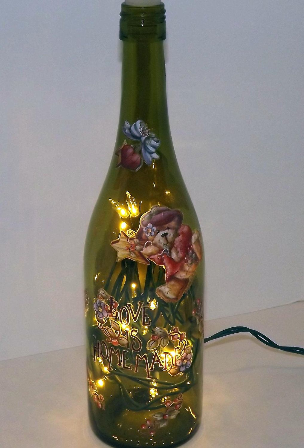 LOVE Is Homemade Recycled Wine Bottle Accent