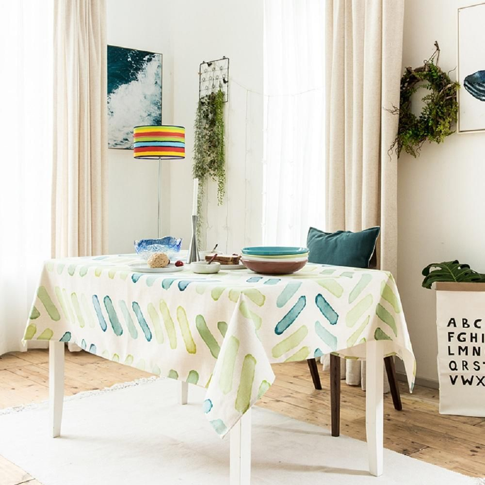 Watercolor Green Drops Indoor / Outdoor Tablecloth | Products ...