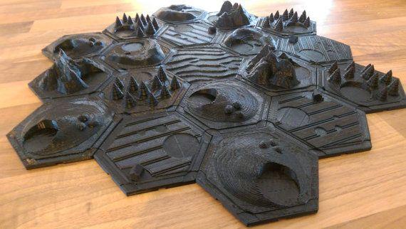 Settlers Of Catan 3d Tile Set Unpainted Expanded Set 3d Printing Projects Settlers Of Catan 3d Printing Diy