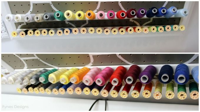 Create your own thread storage rack with these easy DIY instructions. Perfect thread organization for novice to advanced sewers.