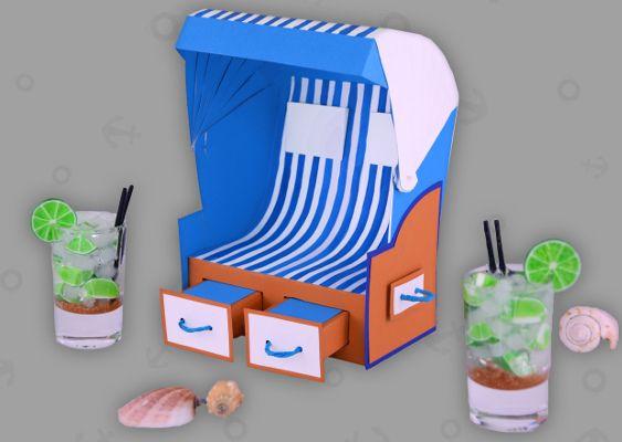 Strandkorb clipart  Bild von Strandkorb aus Papier gebastelt von Veronika Vetter ...