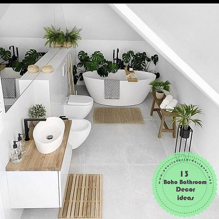 Photo of 13 Ideas For Those Who Want To Decorate Their Bathroom In Boho Style. Design Photo: 4