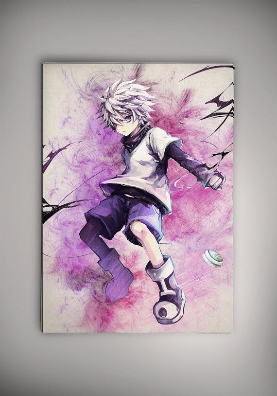 Killua Hunter X Hunter Anime Manga Watercolor Print By Epicshoppe