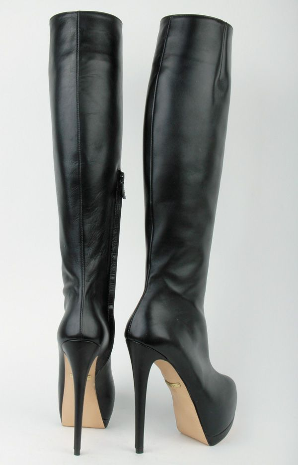 3886f5667a864 Sexy ass high heel black leather boot...a must have for EVERY woman ...
