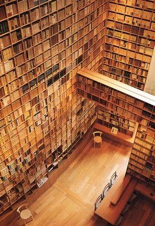 Librairy, Shiba Ryotaro Memorial Museum, Osaka by Tadao Ando