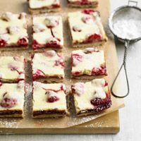 these raspberry bars are awesome