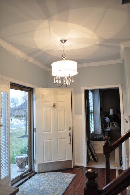 Wall Color Is Light French Gray Amp Ceiling Is Reflecting Pool Both Behr Paint Colors Home