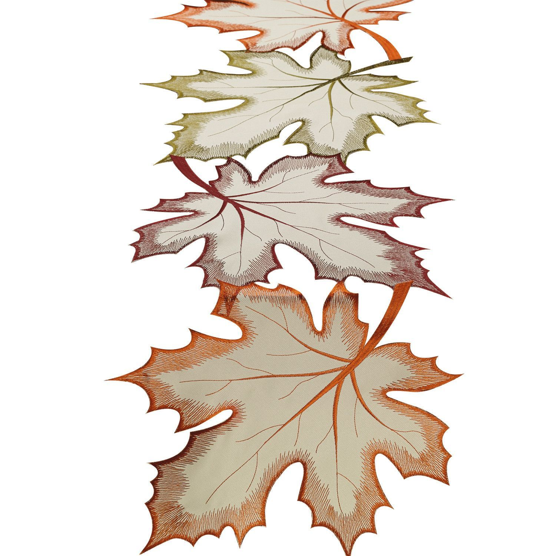 Fall Autumn Scarlet Oak Leaf Embroidery Applique Patch