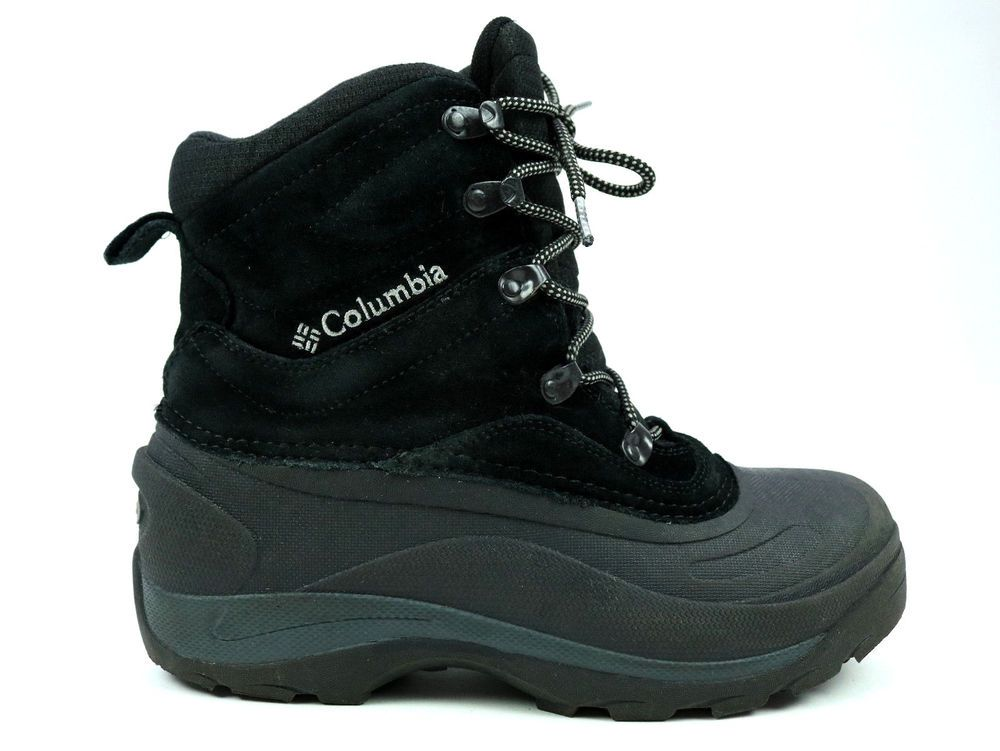 324684986a7 Columbia 200 Grams Bugaboot II Black Winter Lace Up Snow Boots Mens ...