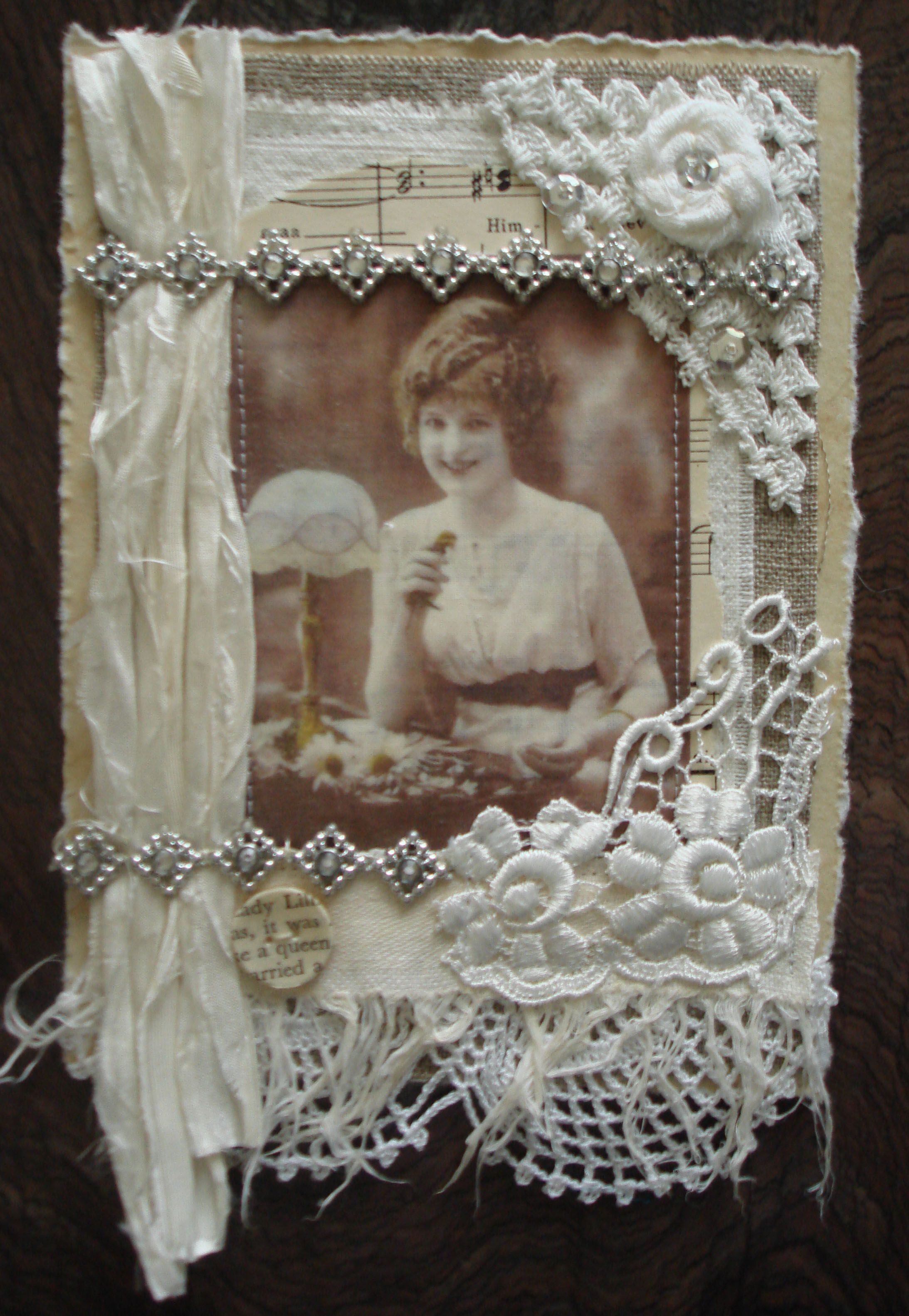 amazingly beautiful vintage foto Collage card | lets try this ...