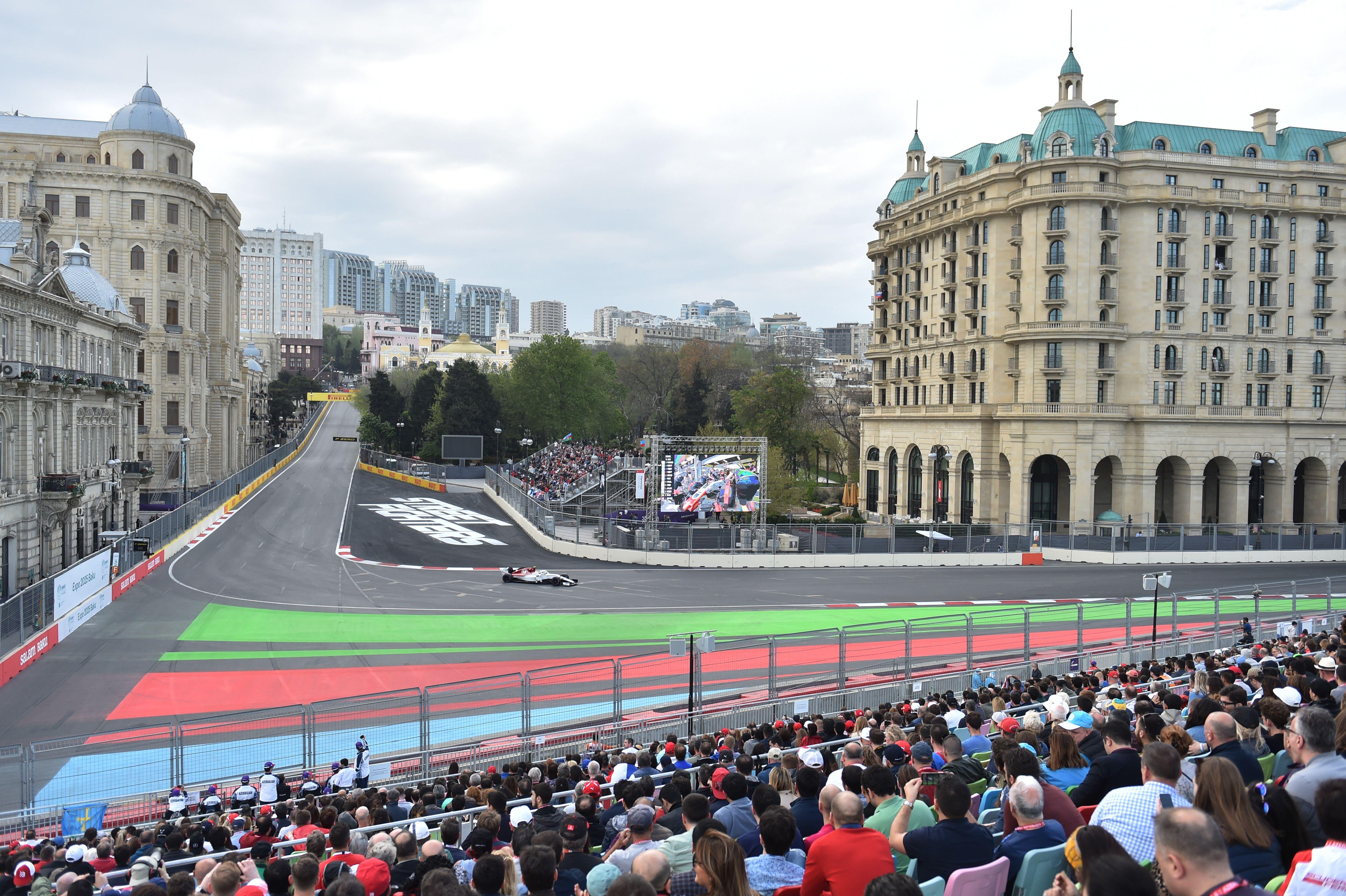 Marcus Ericsson On The Baku Street Circuit Azerbaijan Grand Prix Marcus Ericsson Racing