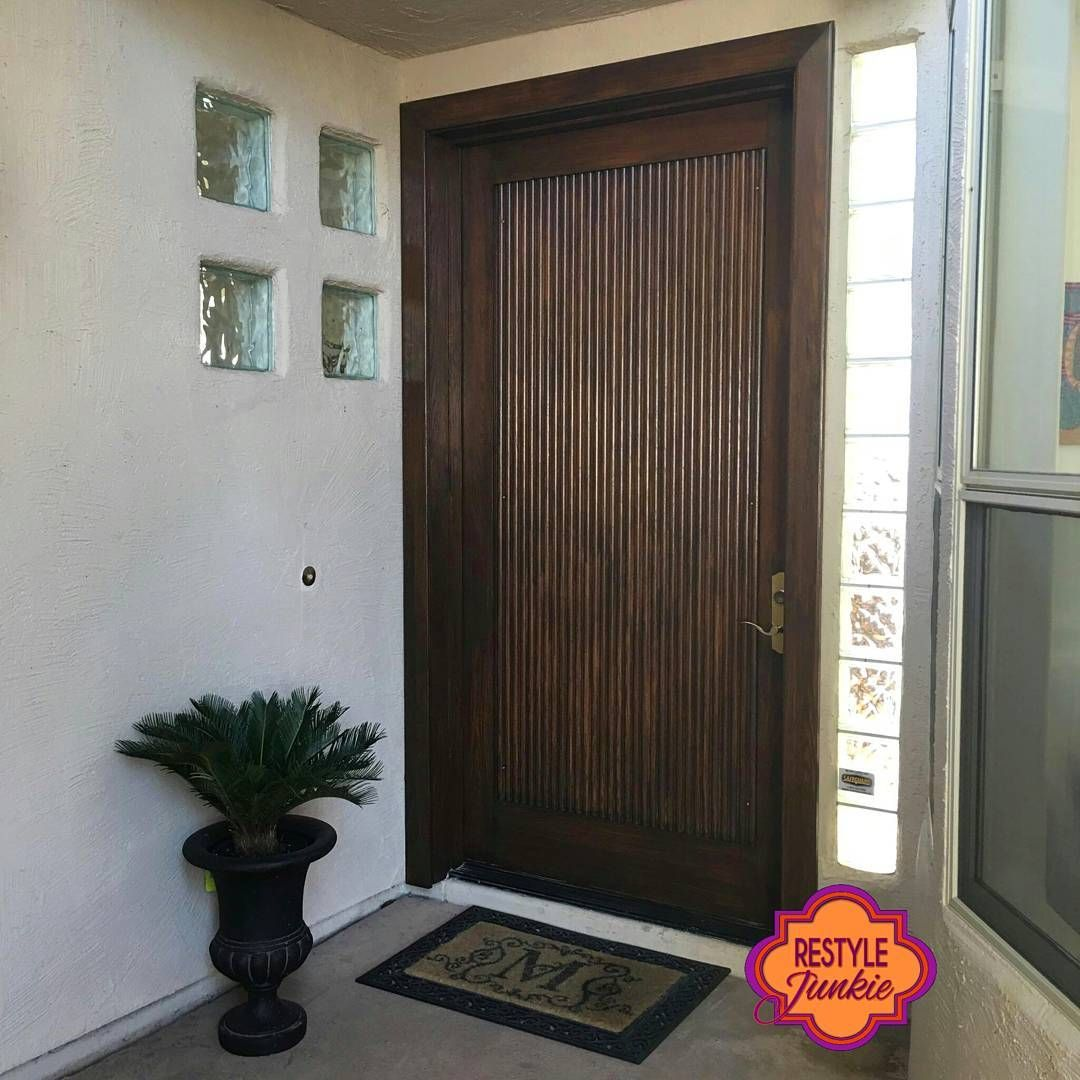 Solid oak front door transformed with Antique Walnut Gel Stain ...